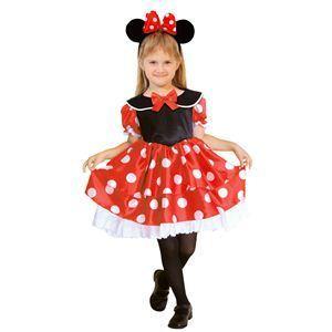 【コスプレ】 RUBIE'S(ルービーズ) DISNEY(ディズニー) コスプレ Child Minnie(ミニー) Sサイズ - 拡大画像