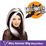 【コスプレ】 RUBIE'S (ルービーズ) 51462 Miss Sinister Wig - Black/Silver(ウィッグ)