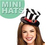 【コスプレ】 RUBIE'S (ルービーズ) 49880 Black and White Stripes Mini Top Hat(ミニハット)