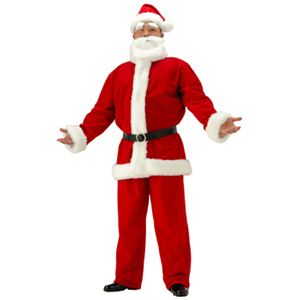 【クリスマスコスプレ】メンズサンタクロースDX ビッグサイズ - 拡大画像