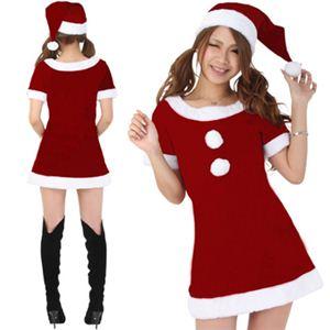 【クリスマスコスプレ】Short-p500A3 レディースサンタ・ショート500(赤)3L - 拡大画像