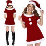 【クリスマスコスプレ】Short-p500A3 レディースサンタ・ショート500(赤)3L