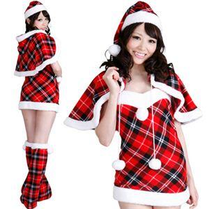 【クリスマスコスプレ】ST-p001D レディースサンタ・ショート - 拡大画像