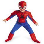 【コスプレ】 disguise Super Hero Squad / Spider Man Toddler Muscle (キッズ・子供用) スパイダーマンコスチューム 3T-4T