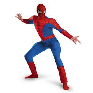【コスプレ】 disguise Classic Spiderman / Spiderman Deluxe Muscle Adult スパイダーマン - 拡大画像