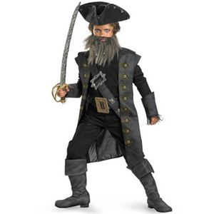 【コスプレ】 disguise Pirate Of The Caribbean / Black Beard Deluxe Child 10-12 パイレーツ・オブ・カリビアン 黒ひげ キッズ・子供用 - 拡大画像