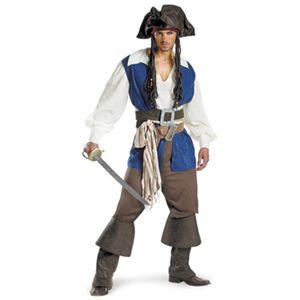 【コスプレ】 disguise Pirate Of The Caribbean / Captain Jack Sparrow Deluxe 42-46 パイレーツ・オブ・カリビアン ジャックスパロウ - 拡大画像