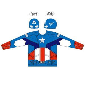 【コスプレ】 RUBIE'S(ルービーズ) 95069 CAPTAIN AMERICA Costume Kit 長袖 キャプテンアメリカ - 拡大画像