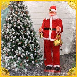 【クリスマス】180cm踊るダンシングサンタ MUSIC1曲(光センサー/踊るサンタクロース/電動) - 拡大画像