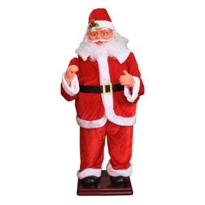【クリスマス】130cm踊るダンシングサンタ MUSIC1曲(光センサー/踊るサンタクロース/電動) - 拡大画像