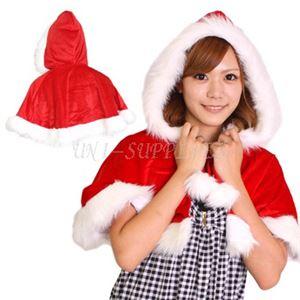 【クリスマスコスプレ 衣装】Patymo クリスマス フード付きケープ