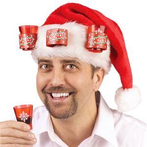 【コスプレ】Santa Hat w/ Shot Glasses - 拡大画像