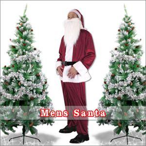 【クリスマスコスプレ 衣装】メンズサンタ Men's Santa costume DK RED VELVET レッド - 拡大画像