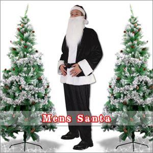 【クリスマスコスプレ 衣装】メンズサンタ Men's Santa costume BLACK VELVET ブラック - 拡大画像