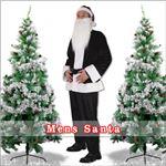 【クリスマスコスプレ 衣装】メンズサンタ Men's Santa costume BLACK VELVET ブラック
