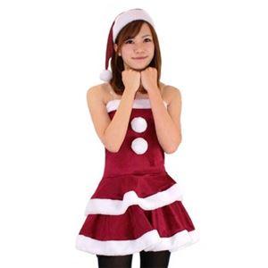【クリスマスコスプレ 衣装】レディースサンタ Ladie's Santa costume DK RED VELVET レッド - 拡大画像