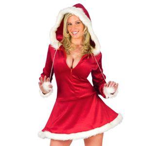 【コスプレ】Sexy Hood Mrs. Santa Dress 大人用 - 拡大画像