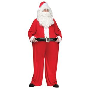 【コスプレ】Fat Santa Adlt Cstm 大人用 - 拡大画像