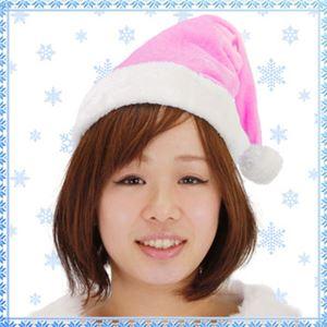 【クリスマスコスプレ 衣装】 Patymo クリスマスサンタ帽子 ピンク - 拡大画像