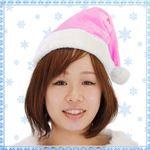 【クリスマスコスプレ 衣装】 Patymo クリスマスサンタ帽子 ピンク