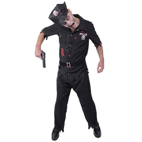 コスプレ衣装/コスチューム 【Police ゾンビポリス】 ポリエステル 『ZOMBIE COLLECTION Zombie』 〔ハロウィン〕