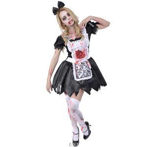 コスプレ衣装/コスチューム 【Maid ゾンビメイド】 ポリエステル 『ZOMBIE COLLECTION Zombie』 〔ハロウィン〕