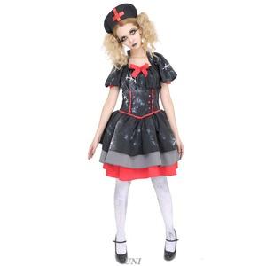 コスプレ衣装/コスチューム 【Crazy Black Nurse クレイジーブラックナース】 ワンピース 『DEath of Doll』 〔ハロウィン〕 - 拡大画像