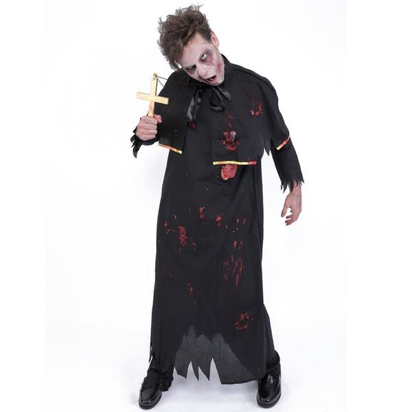 ハロウィン 血のり コスプレ ゾンビ神父