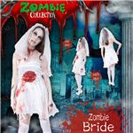 コスプレ衣装/コスチューム 【Bride ゾンビブライド】 ポリエステル 『ZOMBIE COLLECTION Zombie』 〔ハロウィン〕