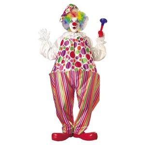 コスプレ衣装/コスチューム 【Ad Snazzy Clown Std カラフルピエロ】 ポリエステル 〔ハロウィン イベント〕