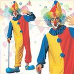 コスプレ衣装/コスチューム 【Ad Clown Std ピエロ】 ポリエステル 〔ハロウィン イベント〕