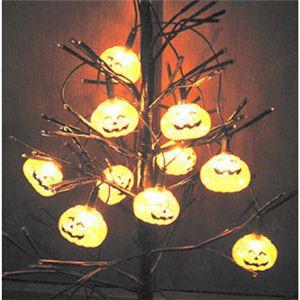 パンプキンライト/ハロウィン用品 【10 Light Shining Pumpkin】 単三電池 〔イベント コスプレ〕 - 拡大画像