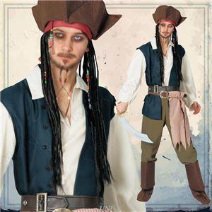 ディズニーコスプレ/コスプレ衣装 【Adult Jack Sparrow ジャックスパロウ】 大人用 〔ハロウィン イベント〕 - 拡大画像