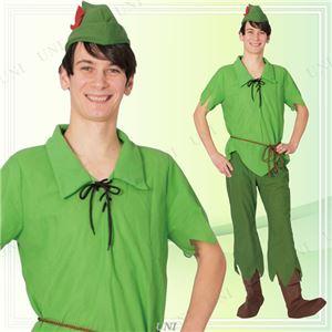 ディズニーコスプレ/コスプレ衣装 【Adult Peter Pan ピーターパン】 大人用 〔ハロウィン イベント〕 - 拡大画像