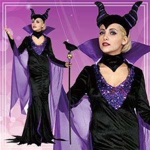 ディズニーコスプレ/コスプレ衣装 【Adult DX Maleficent マレフィセント】 大人用 〔ハロウィン イベント〕 - 拡大画像