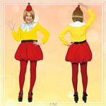 ディズニーコスプレ/コスプレ衣装 【Adult Tweedledee トゥイードル・ディー】 大人用 〔ハロウィン イベント〕