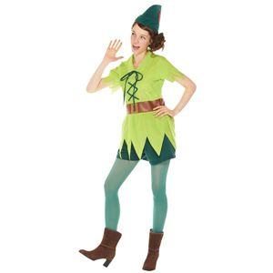 コスプレ衣装/コスチューム 【Adult Peter Pan For Woman ピーターパン】 大人用 〔ハロウィン イベント〕 - 拡大画像