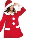 【クリスマスコスプレ 衣装】Patymo プリティサンタコート(レディースサンタコスチューム)