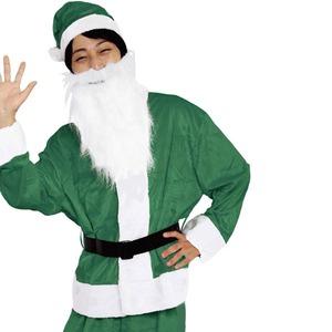 【クリスマスコスプレ 衣装】Men's Santa costume GREEN VELVET メンズグリーンサンタ - 拡大画像