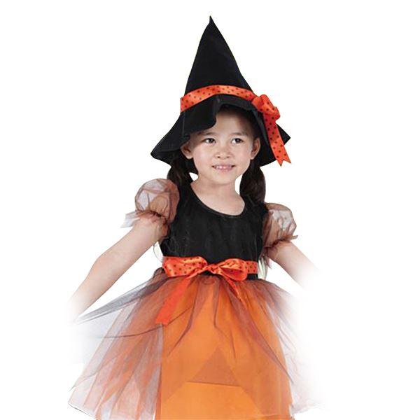 【ハロウィン衣装・子供・魔女衣装】ドットリボンウィッチ