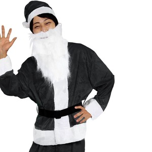 【クリスマスコスプレ 衣装】Men's Santa costume BLACK VELVET メンズサンタの画像