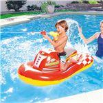 ジェットスキーライドオン/プール用遊具 【レッド】 対象年齢3歳以上 水鉄砲×1 リペアパッチ×1付き 『BESTWAY』 〔海水浴〕