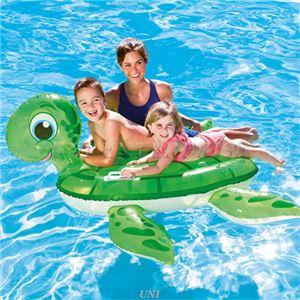 カメ型 フロート/浮き輪 【縦約136cm×横約131cm×高さ約69cm】 ポリ塩化ビニル Turtle Ride-On 〔プール ビーチ〕 - 拡大画像