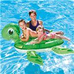カメ型 フロート/浮き輪 【縦約136cm×横約131cm×高さ約69cm】 ポリ塩化ビニル Turtle Ride-On 〔プール ビーチ〕