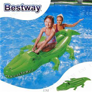 ワニ型 フロート/浮き輪 【縦約196cm×横約100cm×高さ約24cm】 ポリ塩化ビニル Crocodile Rider 〔プール ビーチ〕 - 拡大画像