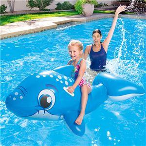 イルカ型 フロート/浮き輪 【縦約149cm×横約80cm×高さ約59cm】 ポリ塩化ビニル Dolphin Ride-on 〔プール ビーチ〕 - 拡大画像