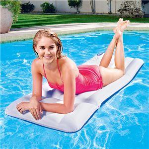 エアーマット/浮き輪 【72cm×28cm】 ポリ塩化ビニル Luxury Mattress 〔プール ビーチ〕 - 拡大画像