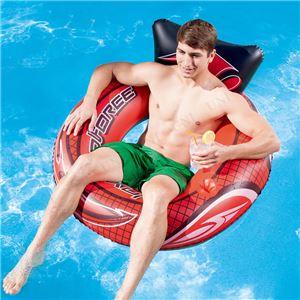 """浮き輪/プールグッズ 【2気室仕様】 空気注入後縦約108cm×横約107cm×高さ約53cm 47"""" Hydro-Force Swim Tube 〔レジャー〕 - 拡大画像"""