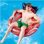 """浮き輪/プールグッズ 【2気室仕様】 空気注入後縦約108cm×横約107cm×高さ約53cm 47"""" Hydro-Force Swim Tube 〔レジャー〕"""