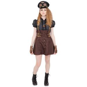 コスプレ衣装/コスチューム 【Military Girl ミリタリーガール】 ゴーグル ネックレス グローブ付き 『STEAMPUNK』 - 拡大画像